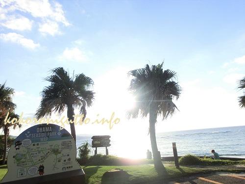 奄美大島で夕日を見るなら地元の人が勧める「大浜海浜公園見晴らし広場」