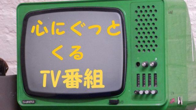 心にぐっとくるTV番組