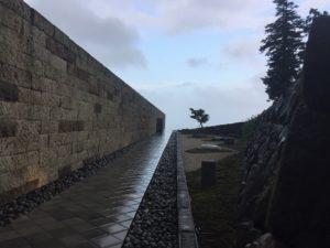 江之浦測候所 雨 ブログ 根府川石の浮橋2