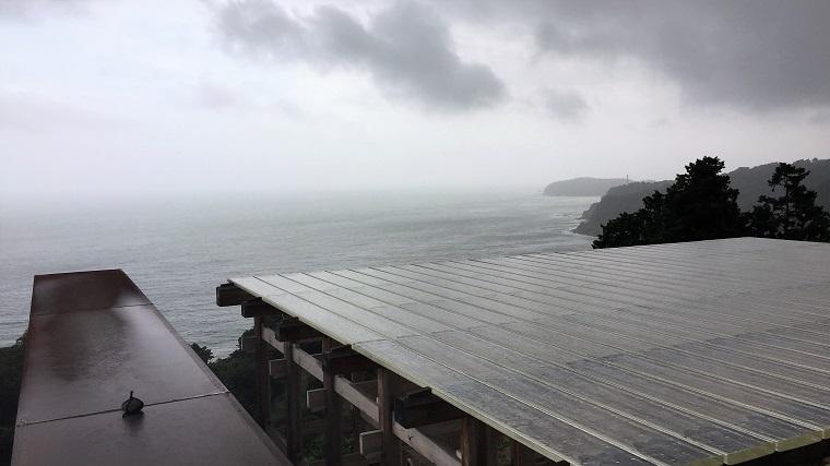 江之浦測候所 雨 ブログ1